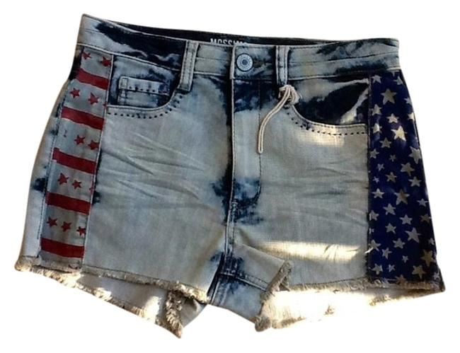 Mossimo Supply Co. Jean Jeans American Flag Jean Jean Mini/Short Shorts White washed