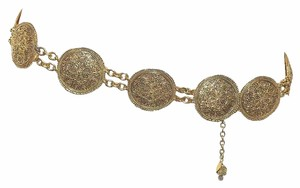 Chanel Preowned Chanel 1985 Baroque Medallion Chain Belt/Necklace Stamped Chanel C Chanel 6007 in the metal 10 medallions measure 2