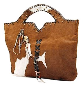 EDE Studio Ede Nyc Satchel in Brown and White