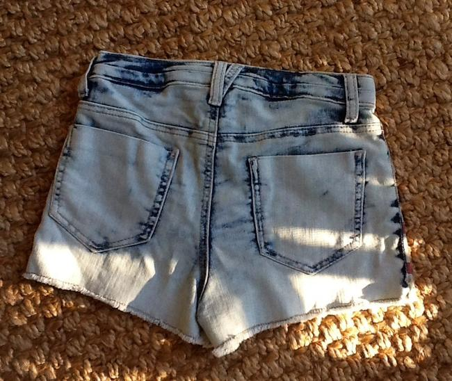 Mossimo Supply Co. Jean Cut Off Jean Cut Off Denim Co Mini/Short Shorts White Washed Distressed