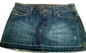 Abercrombie & Fitch Skirt Blue Denim