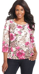 Karen Scott T Shirt Multi-Color