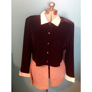 Ronni Nicole Velveteen Black and white Jacket