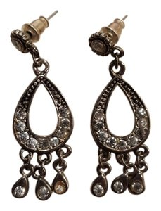 Other Silver jeweled chandelier earrings