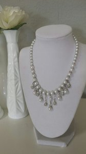 Pearl And Rhinestone Necklace