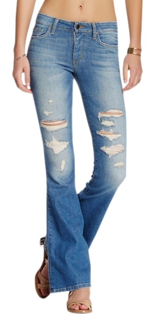 Item - Distressed Flare Leg Jeans Size 27 (4, S)