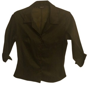Arden B. Fitted Top Dark Green