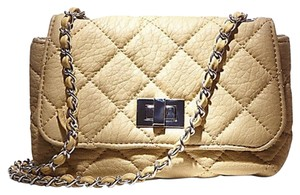 Steve Madden Quilted Crossbody Wristlet in Gold