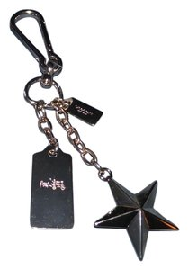 Coach COACH Gold NWT Star Hang Tag Metal Bag Charm Keychain Key Ring Fob