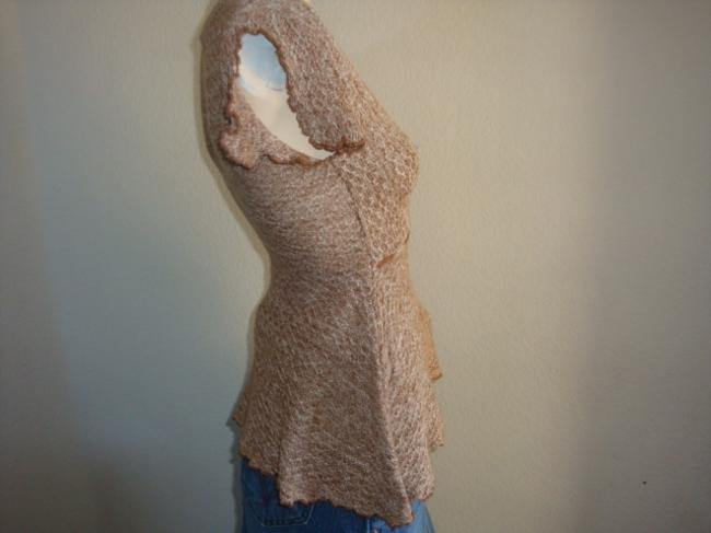 Wet Seal Peplum Crochet Women Ruffles Drawstring Sweater