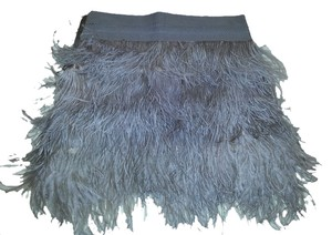 Sfera Ostrich Feathers Mini Skirt grey