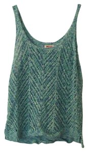 Mossimo Supply Co. Knit Pattern Casual Top Turquoise Knit