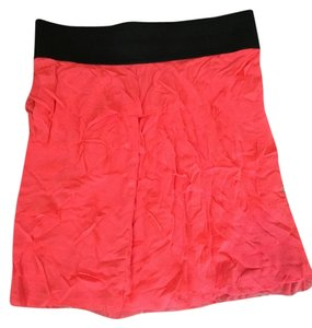 Express Layer Chic Boho Empire Waist Mini Skirt Orange/Peach
