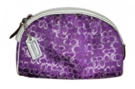 Preload https://item2.tradesy.com/images/coach-makeup-purplesilvergrey-baguette-130936-0-0.jpg?width=440&height=440