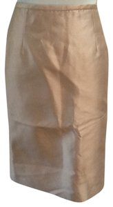 Rickie Freeman for Teri Jon Silk Wool Classic Chic Skirt Pink