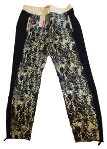 Tracy Reese Skinny Pants Black/floral combo