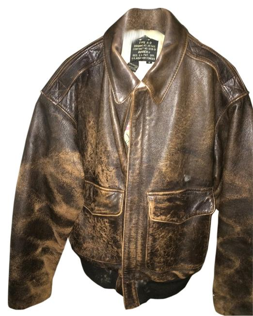 Preload https://item3.tradesy.com/images/avirex-brown-bomber-distressed-leather-size-4-s-1309377-0-0.jpg?width=400&height=650