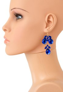 Other Gorgeous Faceted Gemstone Drop Earrings/ Blue