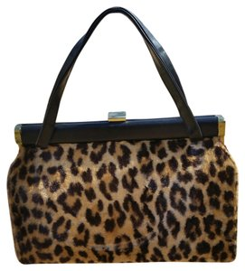 Other Vintage Satchel in Leopard faux fur & leather