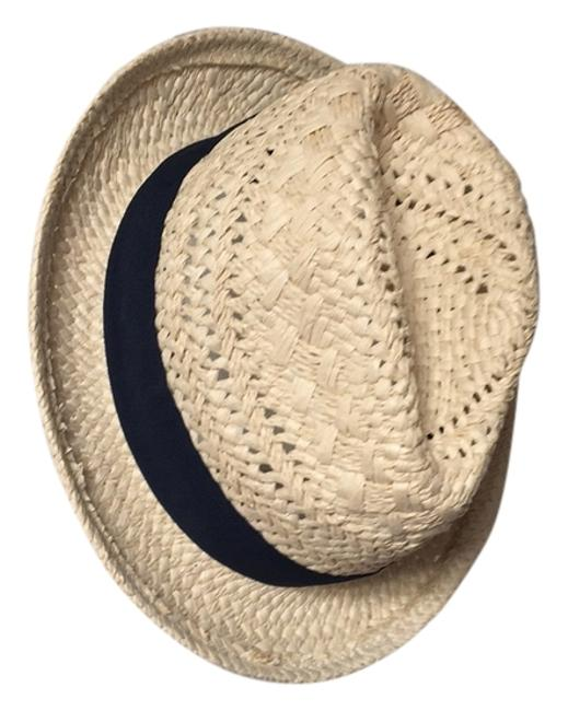 Item - Old Lace Navy Factory Open-weave Ribbon Fedora Hat