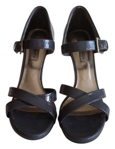 Steve Madden Grey Patent Sandals