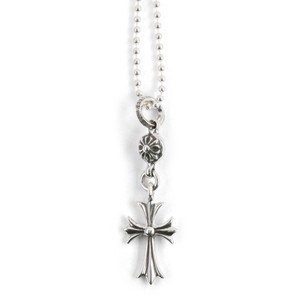 Chrome Hearts ONE BALL TINY CH CROSS CHARM NECKLACE