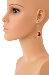 Other BUBBLE CLUSTER DROP EARRINGS/RED