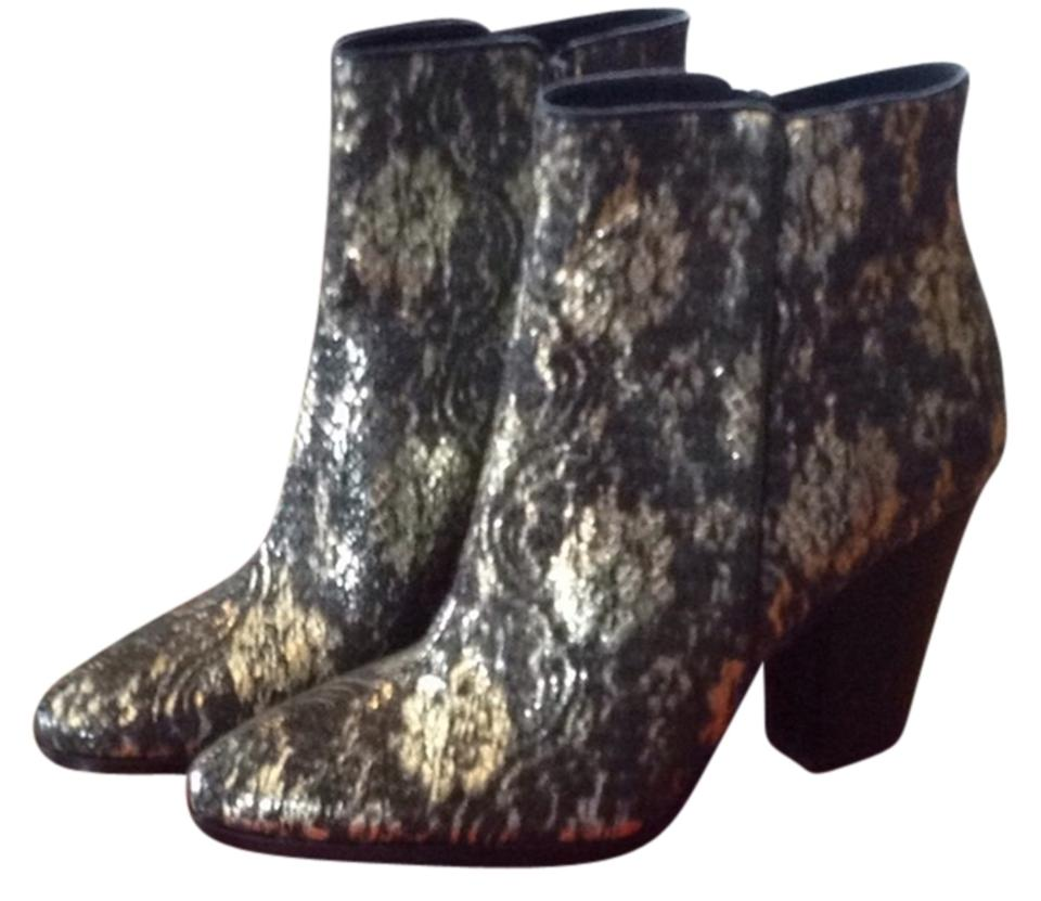 Donald J. Pliner Black Boots/Booties and Pewter Brocade Swift Boots/Booties Black db70a4