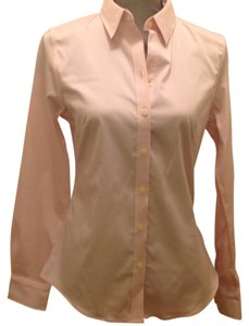 Banana Republic Petite Pink Button Down Shirt Pale pink