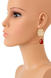 Teardrop Earring/ Drop Earrings/ Dangle Earrrings/ Burgundy Color