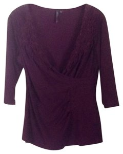 Anthropologie T Shirt Plum