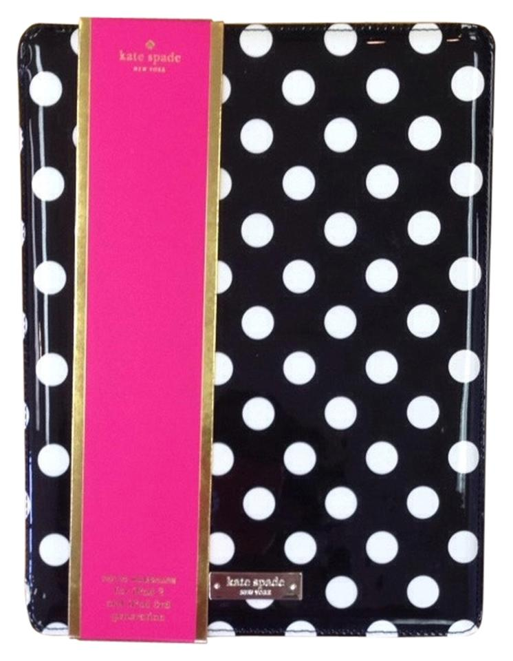 wholesale dealer 8cb65 c9027 Kate Spade Black and Cream Polka A Dot Hard Case Ipad Case Tech Accessory  41% off retail