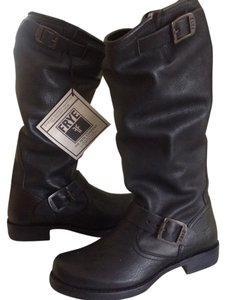 Frye Veronica Slouch Leather Black Boots