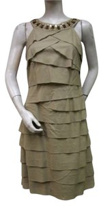 S.L. Fashions short dress Beige Sl Tan Cleo Neck on Tradesy