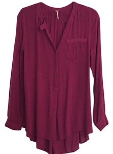 Free People Tunic Top Berry