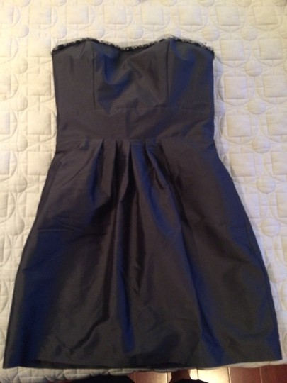 Jim Hjelm Occasions Graphite Modern Bridesmaid/Mob Dress Size 6 (S)