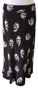 Anne Klein Floral Skirt Brown