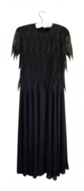 Preload https://item4.tradesy.com/images/black-feather-lace-gown-long-formal-dress-size-12-l-130968-0-0.jpg?width=400&height=650