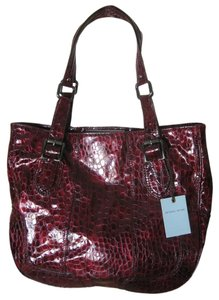 Antonio Melani Satchel in Wine/Plum
