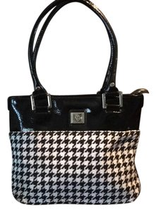 Anne Klein Tote in Black/White