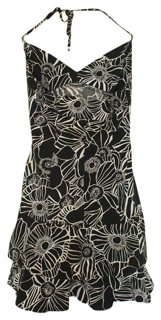 Preload https://img-static.tradesy.com/item/130975/united-colors-of-benetton-black-and-white-halter-style-floral-print-summer-above-knee-short-casual-d-0-0-650-650.jpg