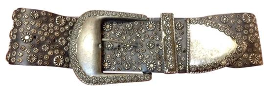Michael Morrison Michael Morrison Garden Party Vintage LTHR Flower Studded Belt