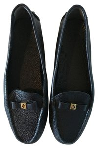 Tory Burch Leather Navy Blue Flats