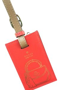Gucci Authentic Gucci Leather Luggage Tag