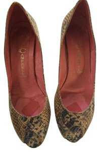 Jeffrey Campbell Multi- beige snakeskin Pumps