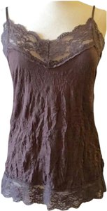 Weavers Camisole Lace Adjustable Straps Top Brown