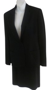 Donna Karan DONNA KARAN BLACK LABEL BLACK SKIRT SUIT WOOL SPANDEX SIZE 2 $2100.