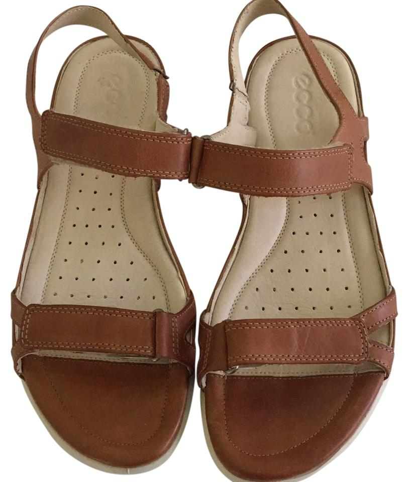 ecco brown leather sandals