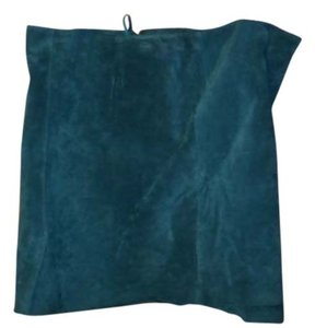 Newport News Mini Suede Mini Skirt teal