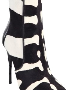 Balmain Animal print black and white Boots